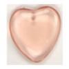 Glass Bead Heart 7X24mm Rosali Strung - Rosaline